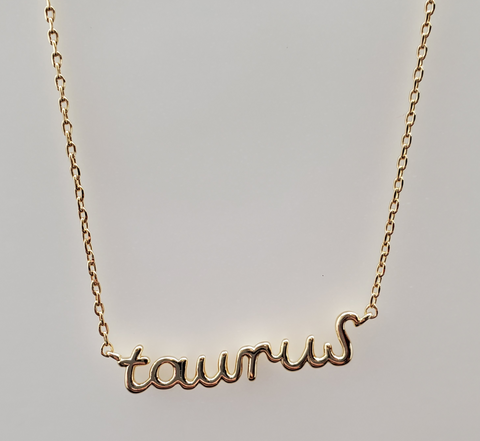 Taurus Astrology Brass Necklace