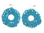 Blue Color Soft Flower Shaped Rubber Earrings