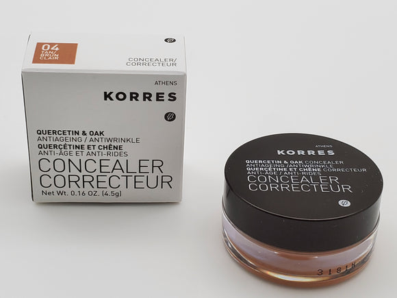 Korres Quercetin And Oak Concealer Anti Ageing And Anti Wrinkle 04 Tan Color