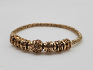 Gold Color Diamond Inspired Bracelet