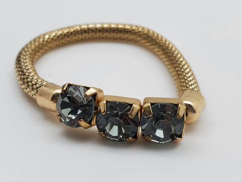 Gold simulated crystal stretchable Color Bracelet