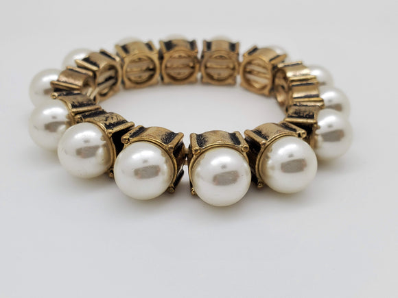 Gold Color With Pearls Bracelet