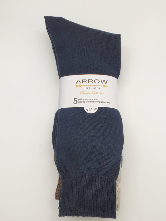 ARROW USA 1851 Premium Collection 5 Pair Men Socks