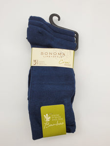 Sonoma Life + Style 3 Pairs Blue Color Crew Socks