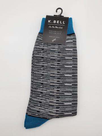 K.Bell TV Fuzz Men's Dress Socks
