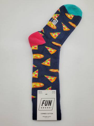Fun Socks Pizza Design Combed Cotton Socks