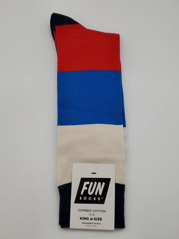 Fun Socks Multiple Color King Size 13-16 Socks