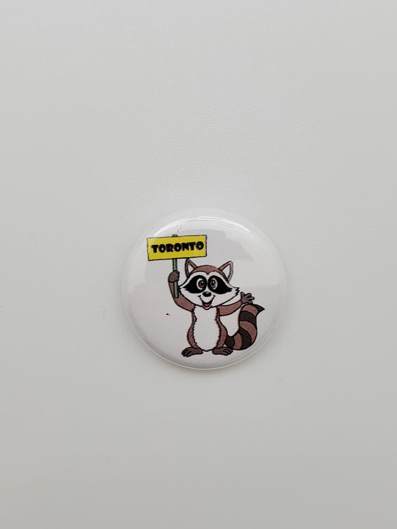 Toronto Racoon Button Pin