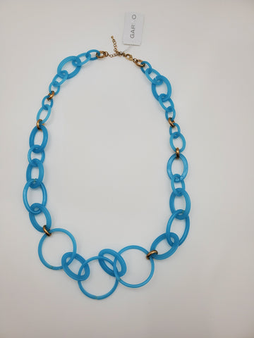 Blue Color Chain Style Necklace