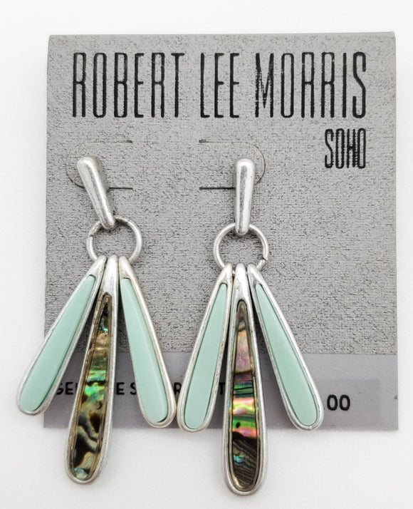 Robert Lee Sterling Silver Plated Drop Earrings
