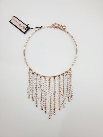 BCBGeneration Rose Gold Color Cascading Choker Necklace