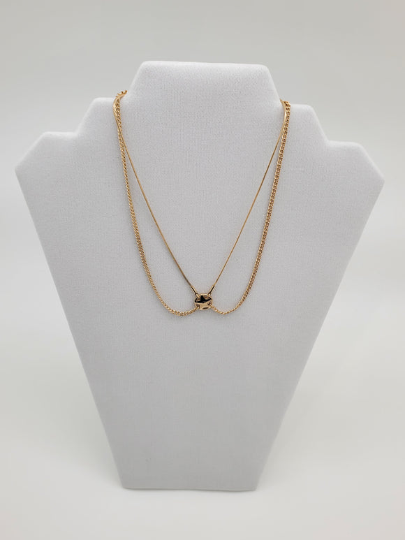 BCBGeneration Double Chain Gold Color Necklace with Star Charm