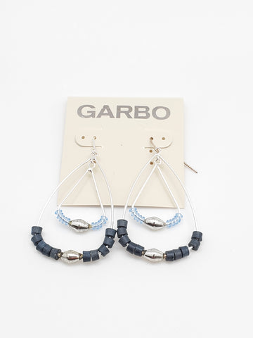 Garbo Earrings Double Drop Beaded Earrings