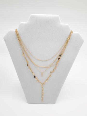 BCBG 5 Chains Beautiful Golden Necklace