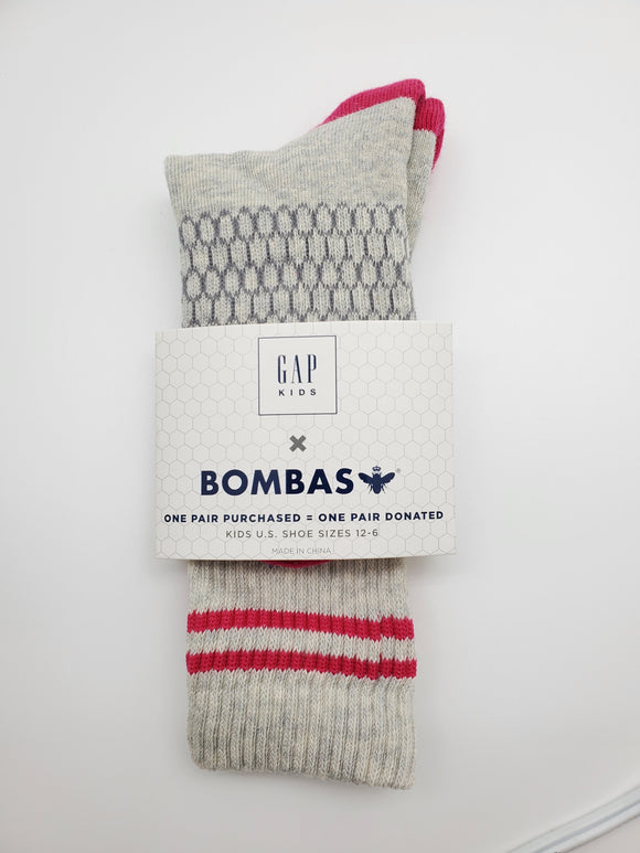 Bombas & Gap Collaboration Grey and Pink Socks