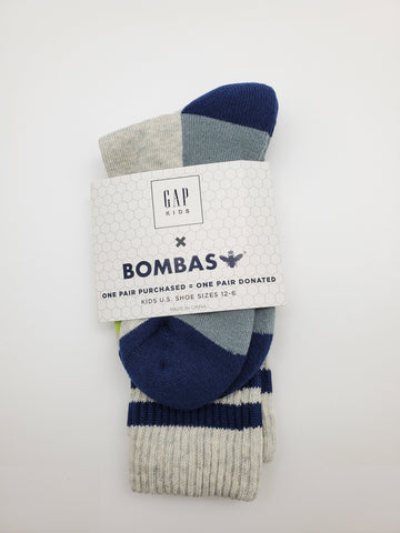 Bombas Kids Blue and Grey Socks