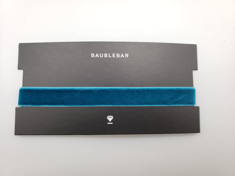 Baublebar Teal Color Velvet Choker Necklace