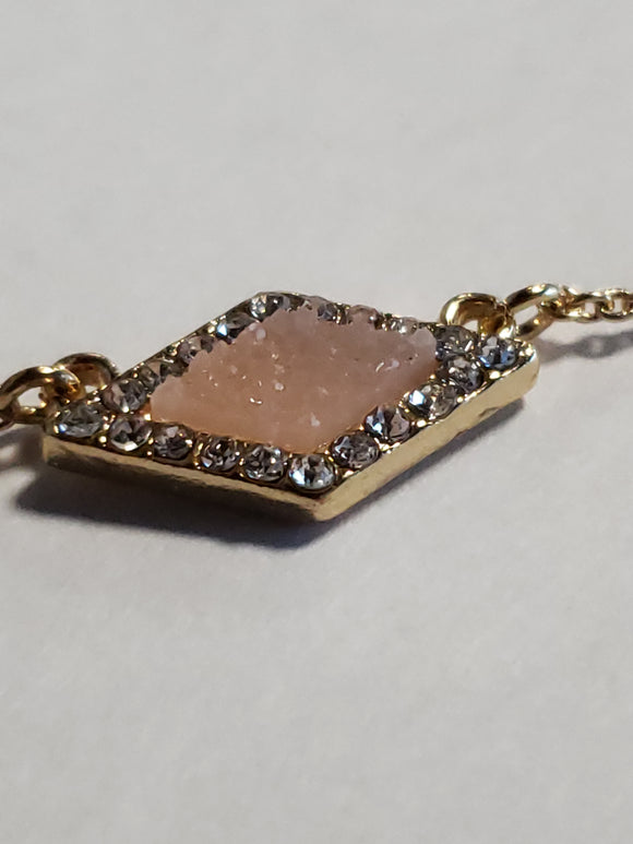 Baublebar Blush Gold Diamond Shaped Necklace