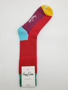 Happy Socks Red/Green Combed Cotton Socks