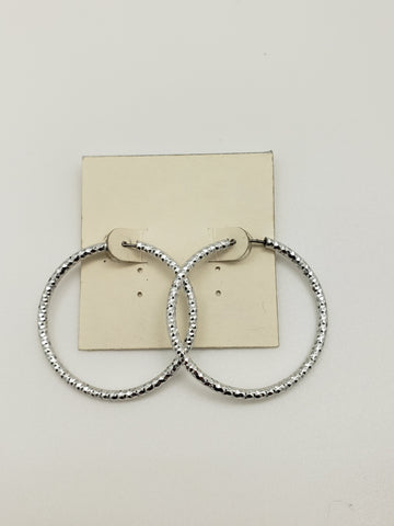 Ultra Lightweight Silver Hoop Earrings