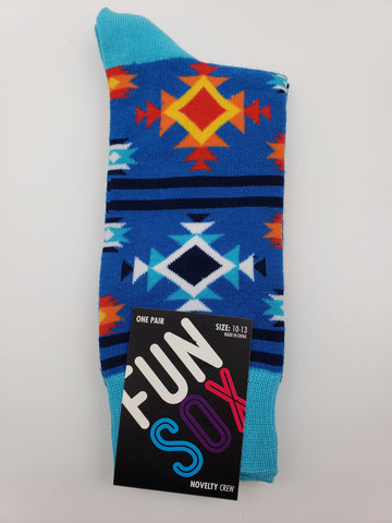 Fun Sox Southwest Style Pattern Socks