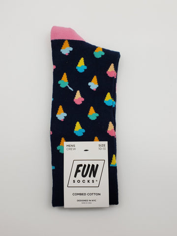 Fun Socks Ice Cream Cone Socks