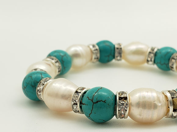 Beautiful 3 Style Bead Stretch Bracelet