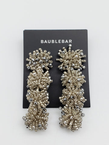 Baublebar Fluffy Metalic Seed Bead Bundle Duster Drop Earrings