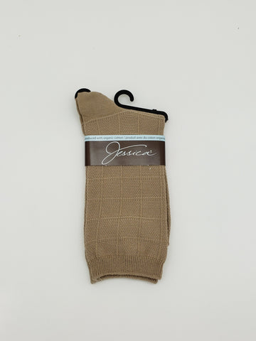Jessica Light Taupe Socks
