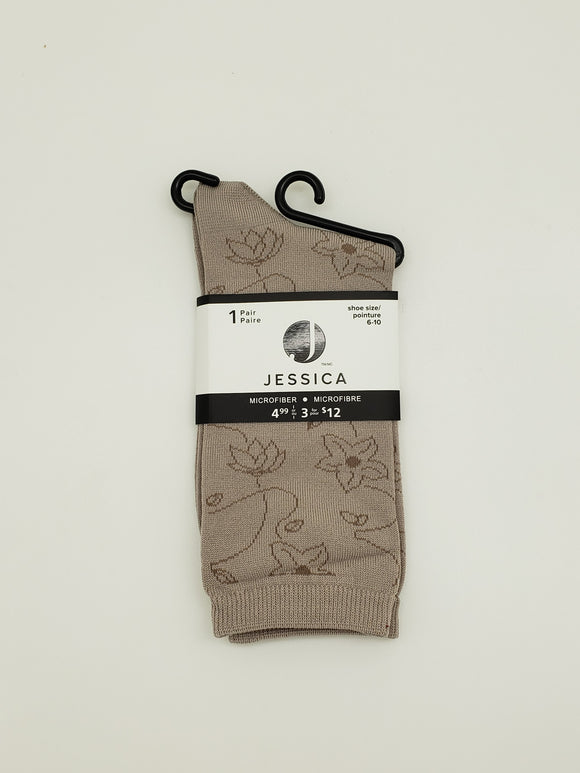 Jessica Sand Color Socks