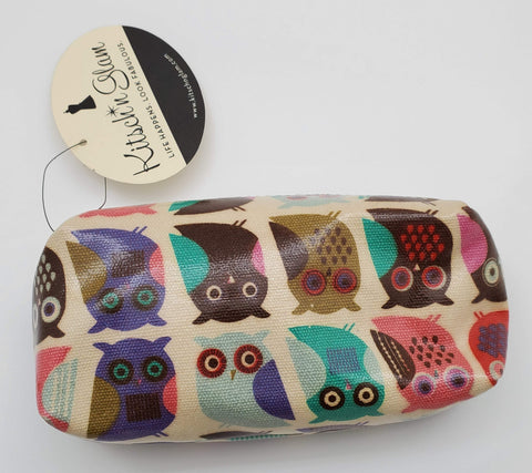 Kitsch'n Glam Cahoots Colorful Owl Design Cosmetic Bag