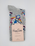 Happy Socks Combed Cotton Flower Pattern Socks
