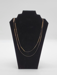 Gold Thin Two Layer Necklace
