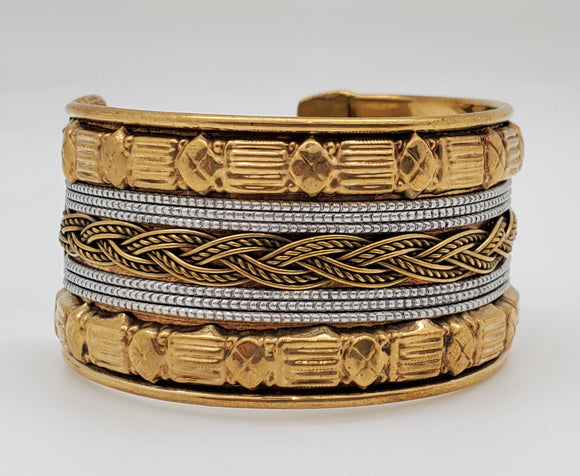 Two Tone Classic Bollywood Style Bracelet