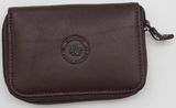 L'OURS GRIS Zipper Key Holder With ID Card Window Wallet