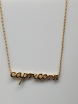 Capricorn Astrology Brass Necklace