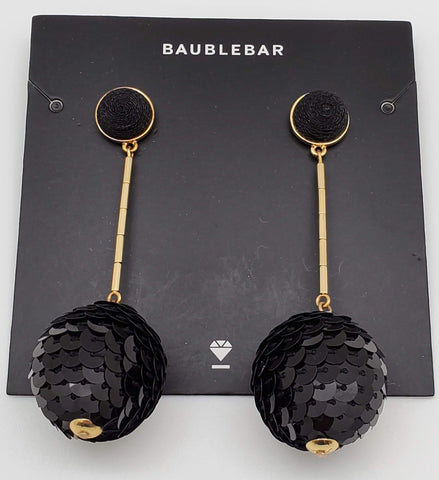 Baublebar Black and Gold Ball Dropping Earrings