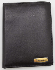Rosemary Black Color Wallet With 2 Photo Card Place