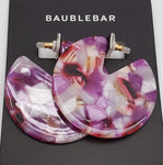 Baublebar Round Marbalized Pink Acrylic Earrings