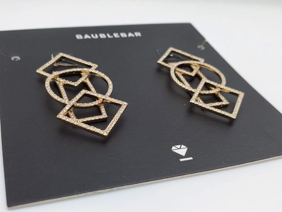 Baublebar Gold Lace Geometric Earrings