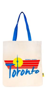 Vintage CN Tower Toronto Canvas Tote Bag