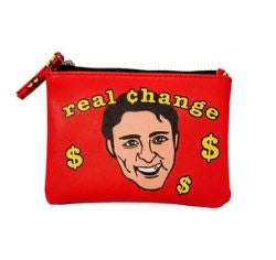 Justin Trudeau Real Change Coin Purse