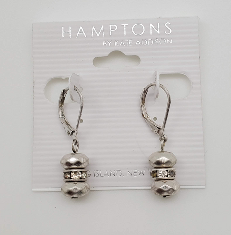 Hamptons By Kate Addison Silver Color With Stones Earrings