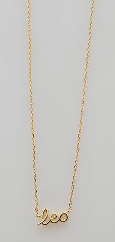 Leo Astrology Brass Necklace