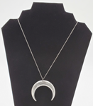 Silver Upside Down Moon Necklace