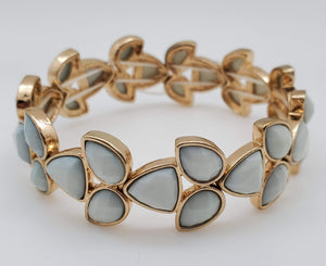 Gold And Blue Color Leaves Shape Bracelet