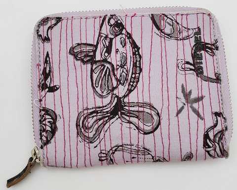 Purple Color Fish Design Wallet