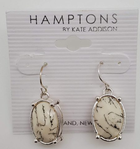 Hamptons By Kate Addison Marble Bee Design Earrings