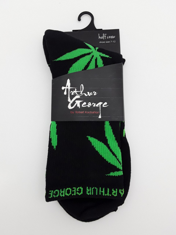 Arthur George by Robert Kardashian Green Leaf Socks