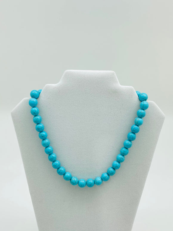 Turquoise Color Beaded Necklace in different styles